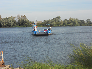 Fähre über die Elbe am Elberadweg bei Tießau, Hitzacker